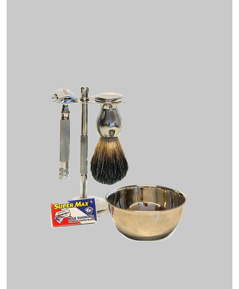 Mountaineer Brand Chrome Shaving Set