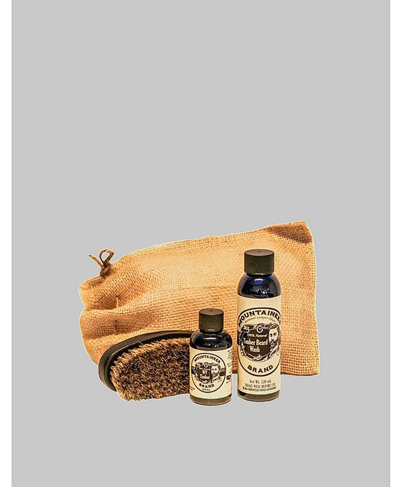 Timber Beard Oil/Beard Wash/Brush Kit