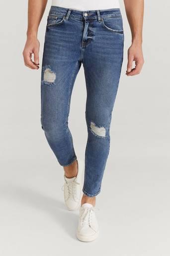 William Baxter Jeans Ted Cropped Blå