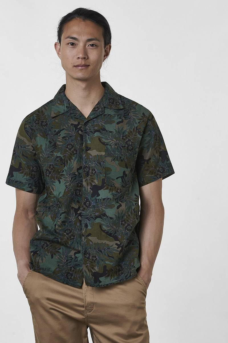 Skjorta Larry Leaf Printed Shirt