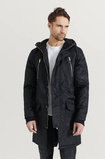 William Baxter Manning Parka Iron Svart