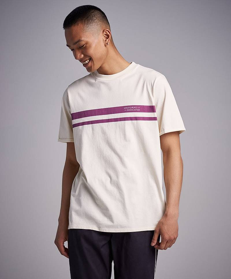 Court Tee Lemonade/Purple