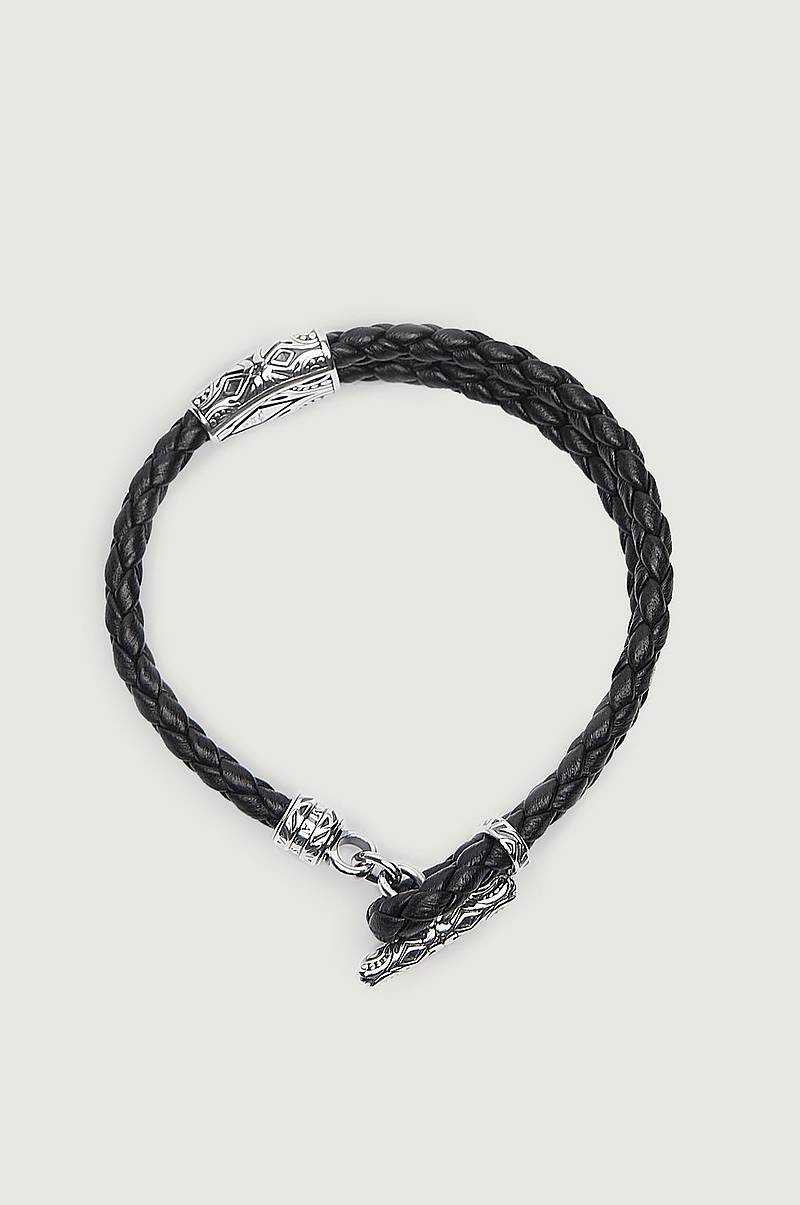 A1859 Leather Bracelet Black