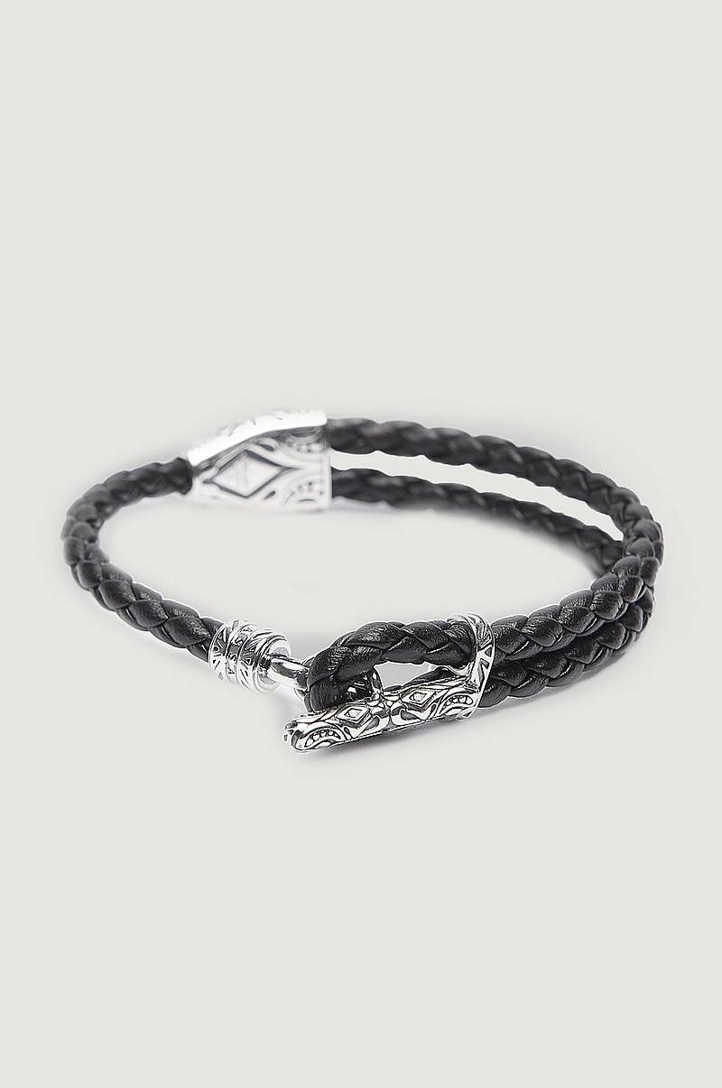 Armbånd A1859 Leather Bracelet Black