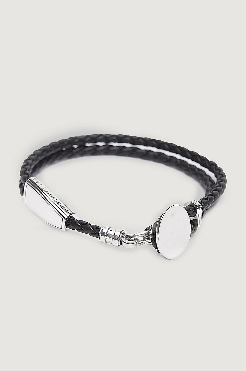 Armbånd A1863 Leather Bracelet Black