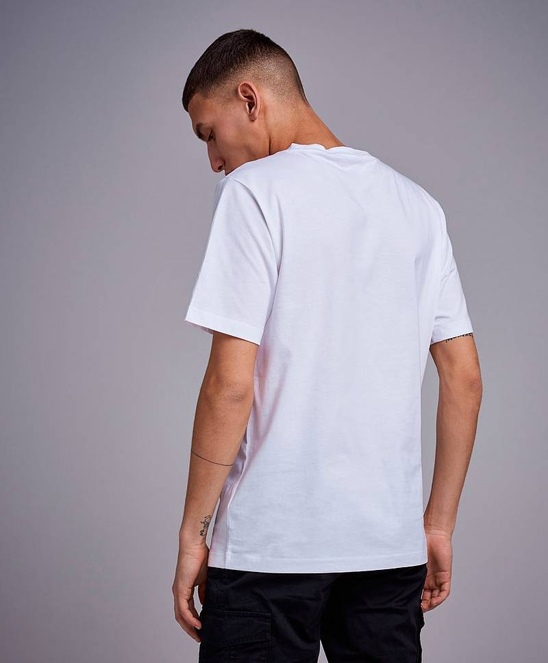 Institutional Silver Box SS Tee 112 Bright White