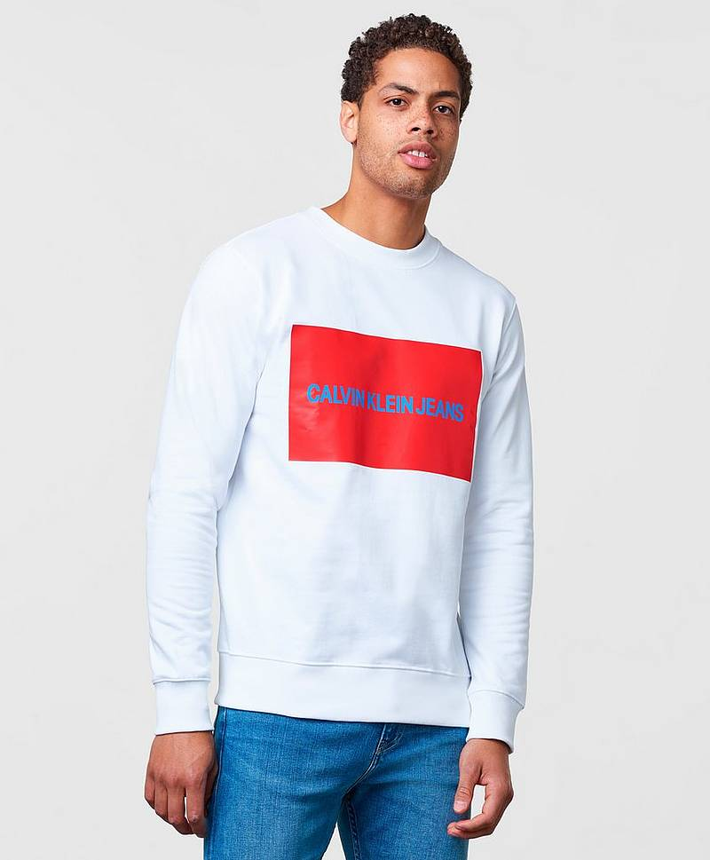 Institutional Box logo Sweatshirt 112 White
