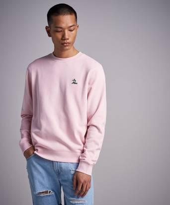 Lacoste Sweatshirt Palm Sweat CCA Grey Melange Rosa
