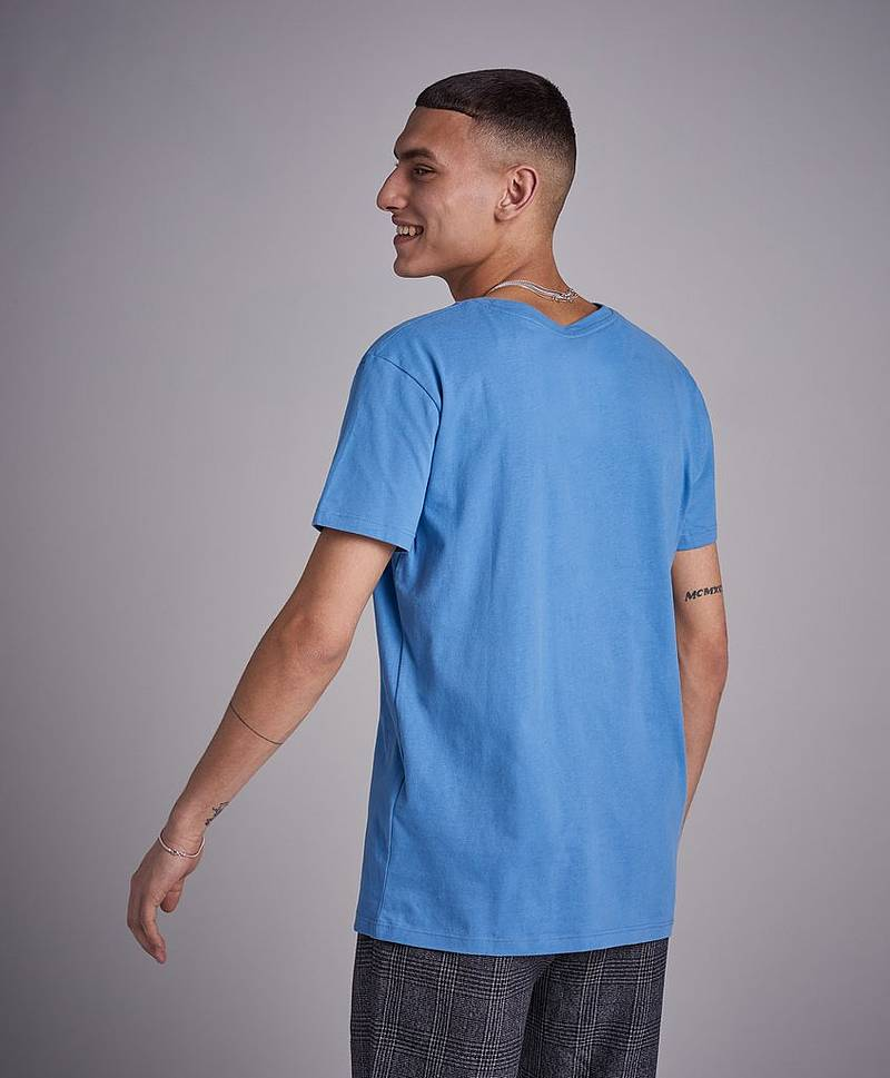 Crew Neck T-shirt 437 Mid blue