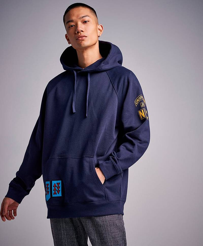 Multi Badges Hoodie 402 Night Sky