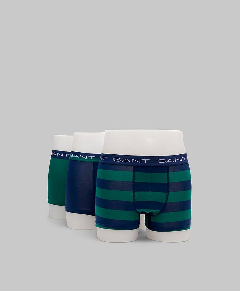 3-pack Rugby Stripe 373 Ivy green