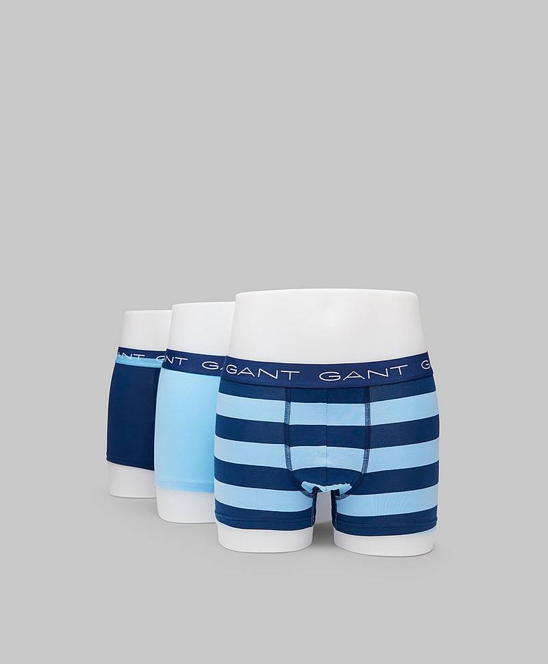 3-pack Rugby Stripe 468 Capri blue