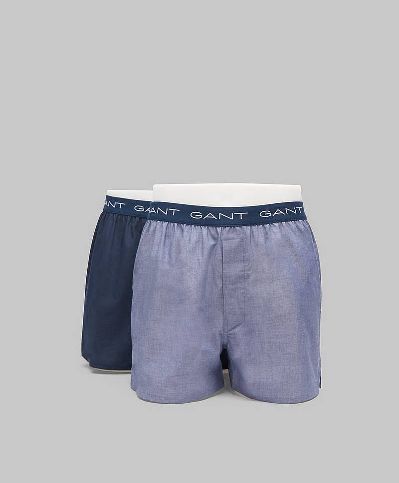 2-pack Woven Boxershorts 475 Hurricane blue