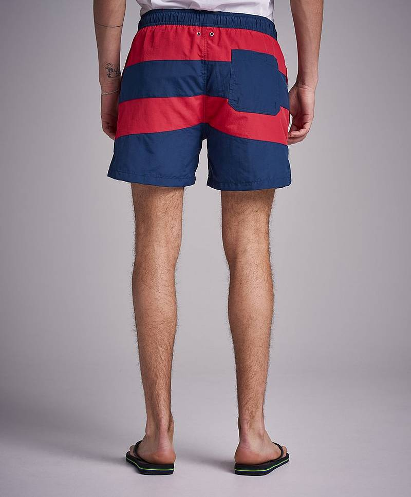Badeshorts Rugby Stripe 620 Bright red