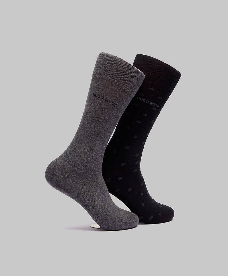Sokker 2-pack RS Dot Black/Grey