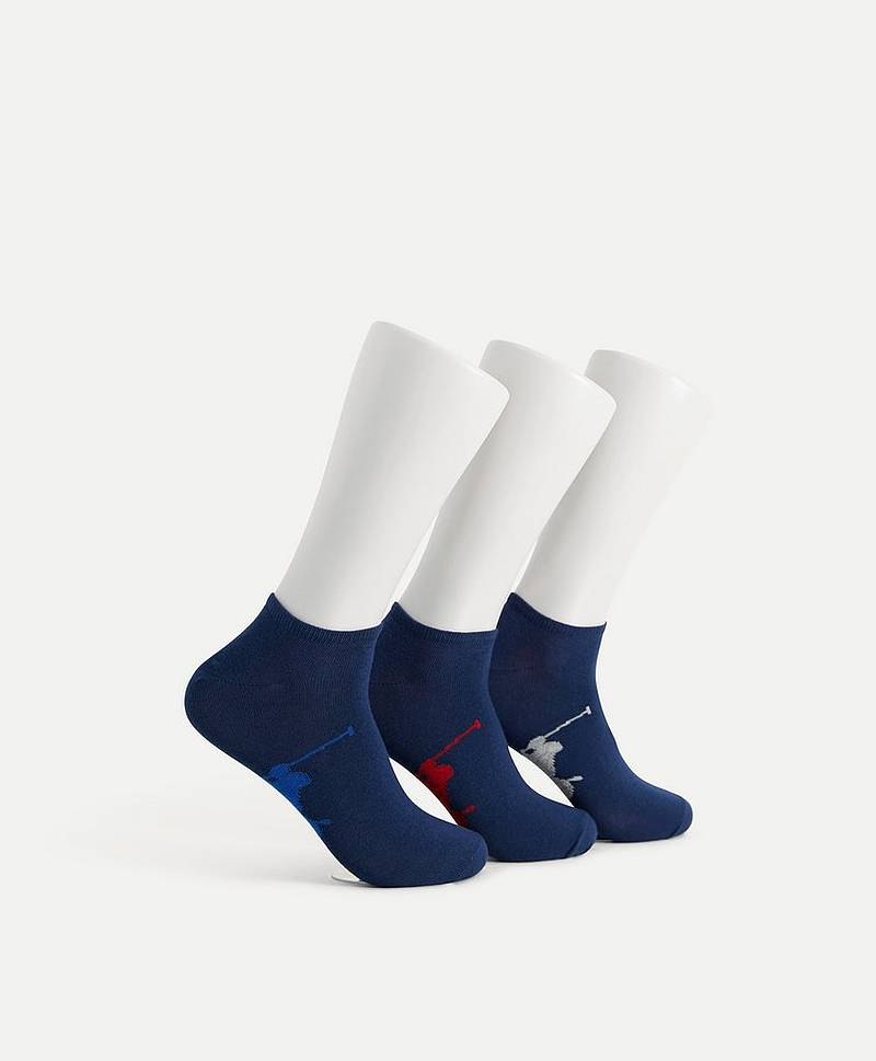 STRØMPER Big Ponny 3PKT Ancle Sock 004 Navy