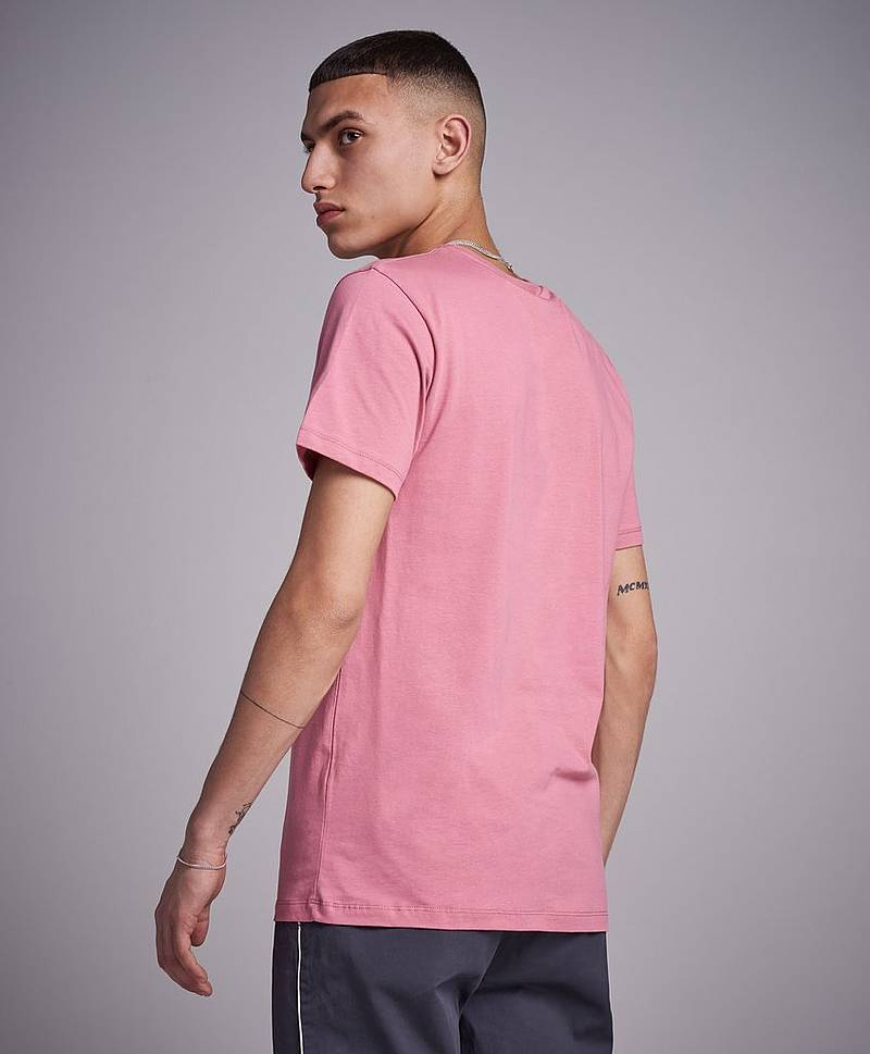 Mini Script T-shirt Dusty Pink