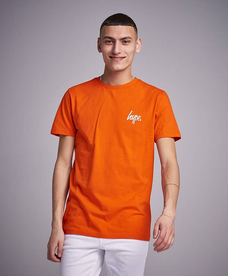 Mini Script T-shirt Orange