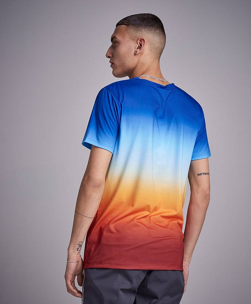 T-Shirt Sundown Fade Script