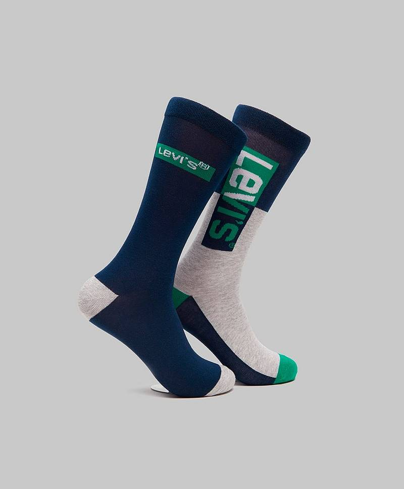 2-pack Logo Sock Reg Cut 420 Blue