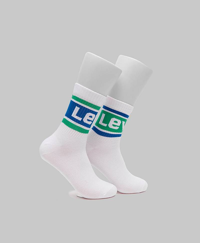 2-pack Logo Sock Mid Cut 281 White
