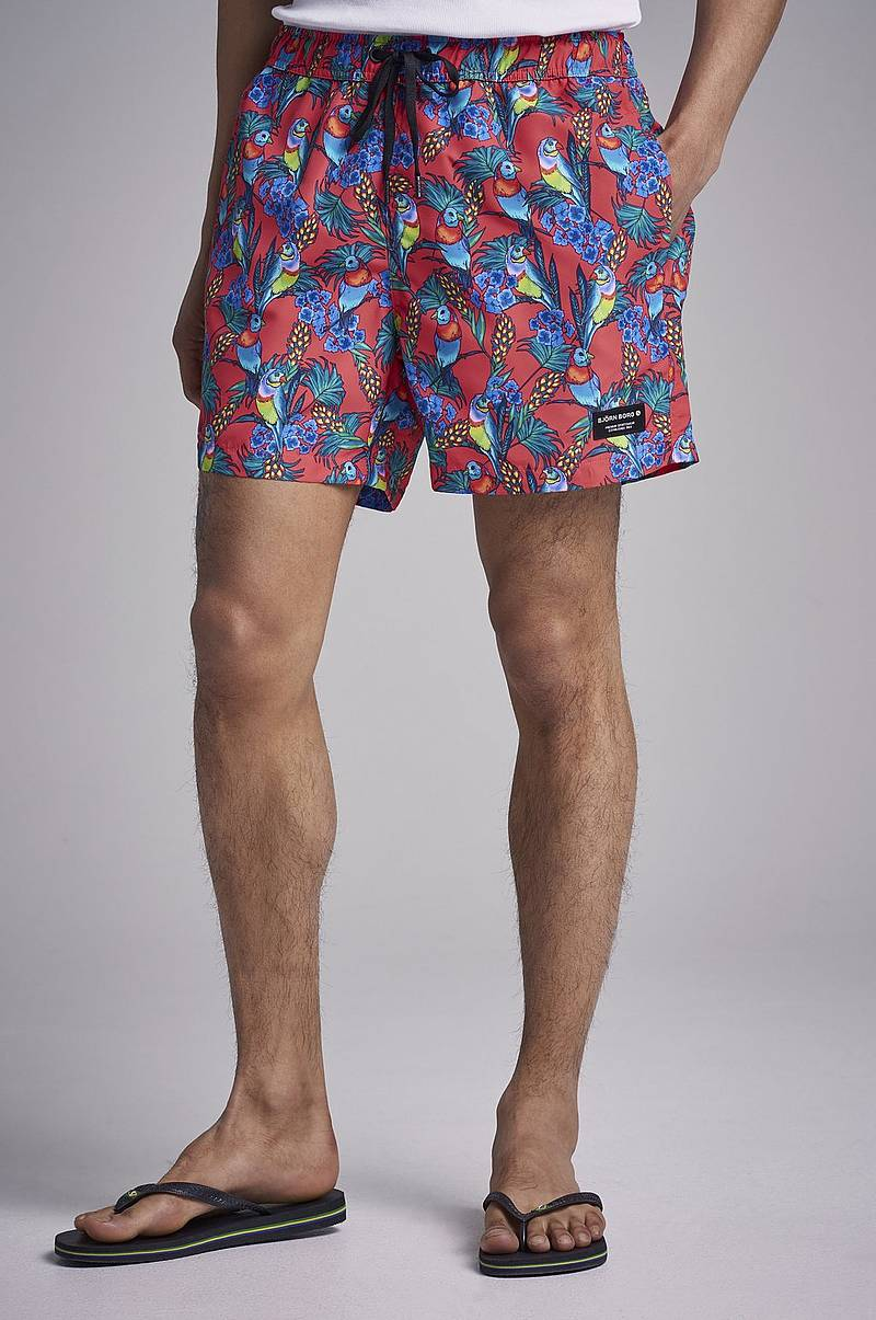 Sylvester Loose Shorts Parrot Diva Pink