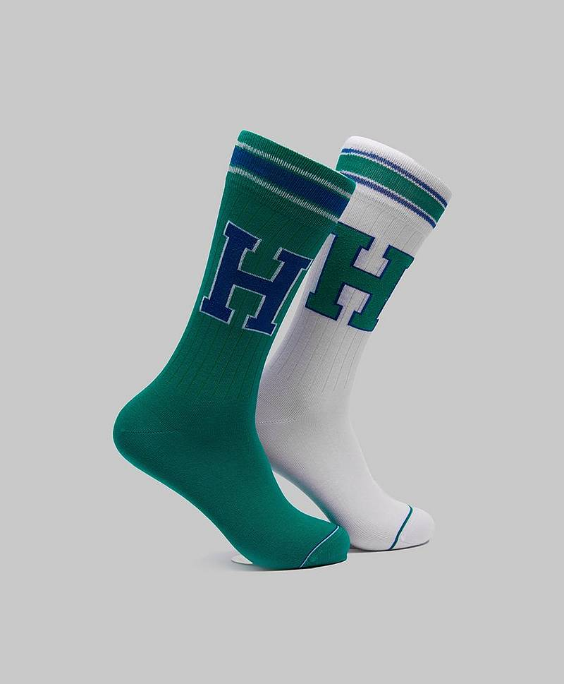 2-pack T Sock 075 Green