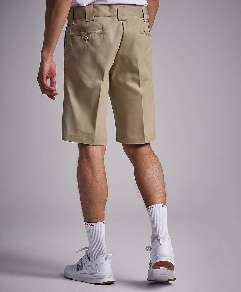 "11"" Slim Straight Work Shorts Khaki"