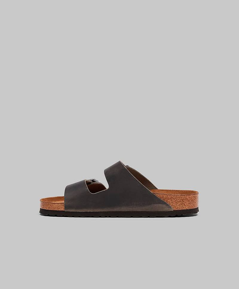 Sandaler Arizona Soft Footbed Oiled Leather Iron