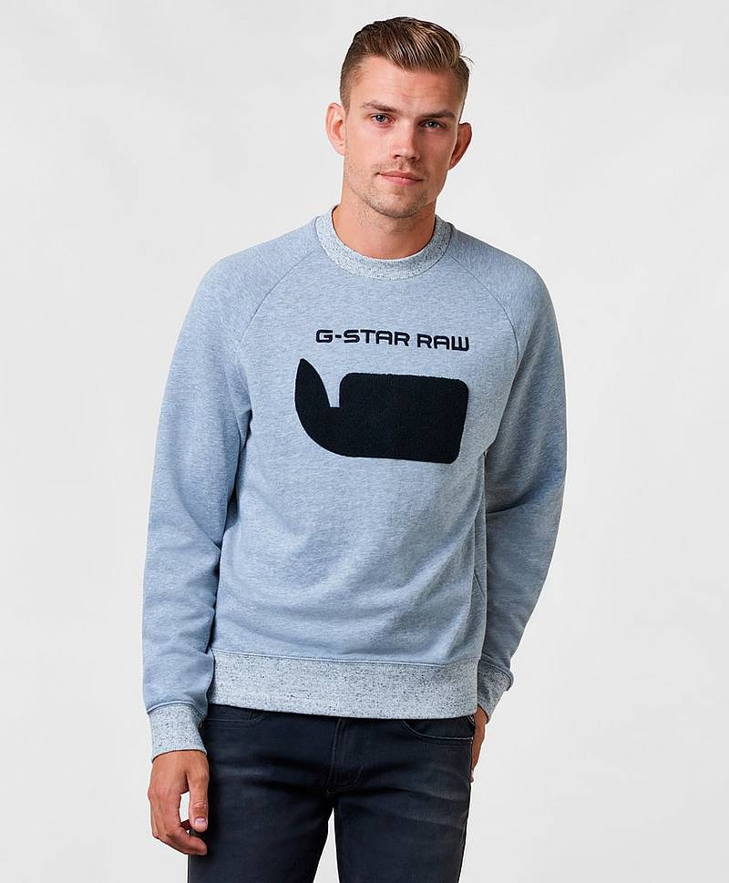 Revir Stor Ragglan Sweat Light Grey