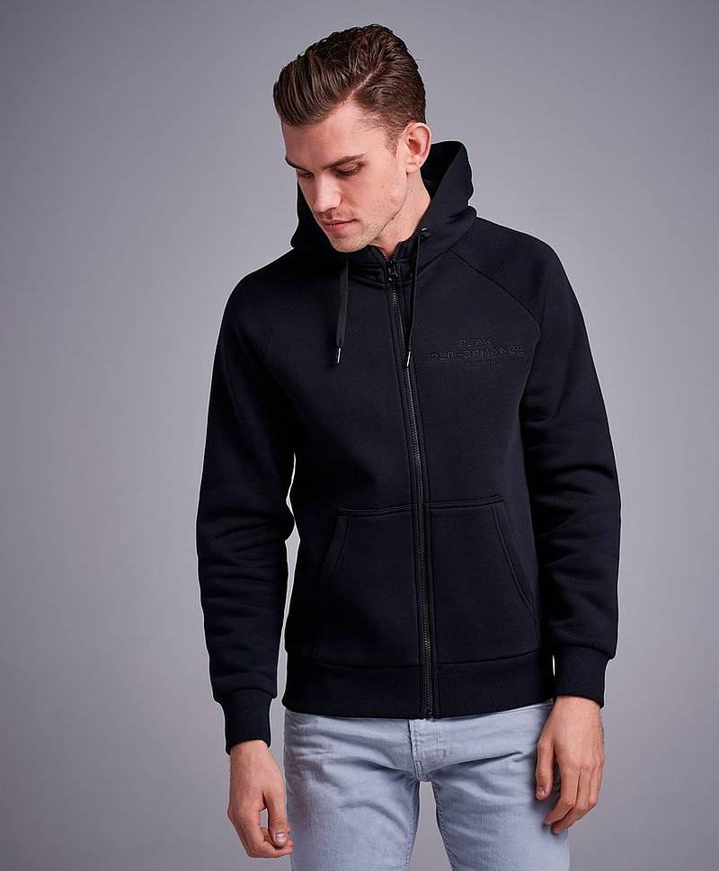 Huppari Original Zip Hood Black