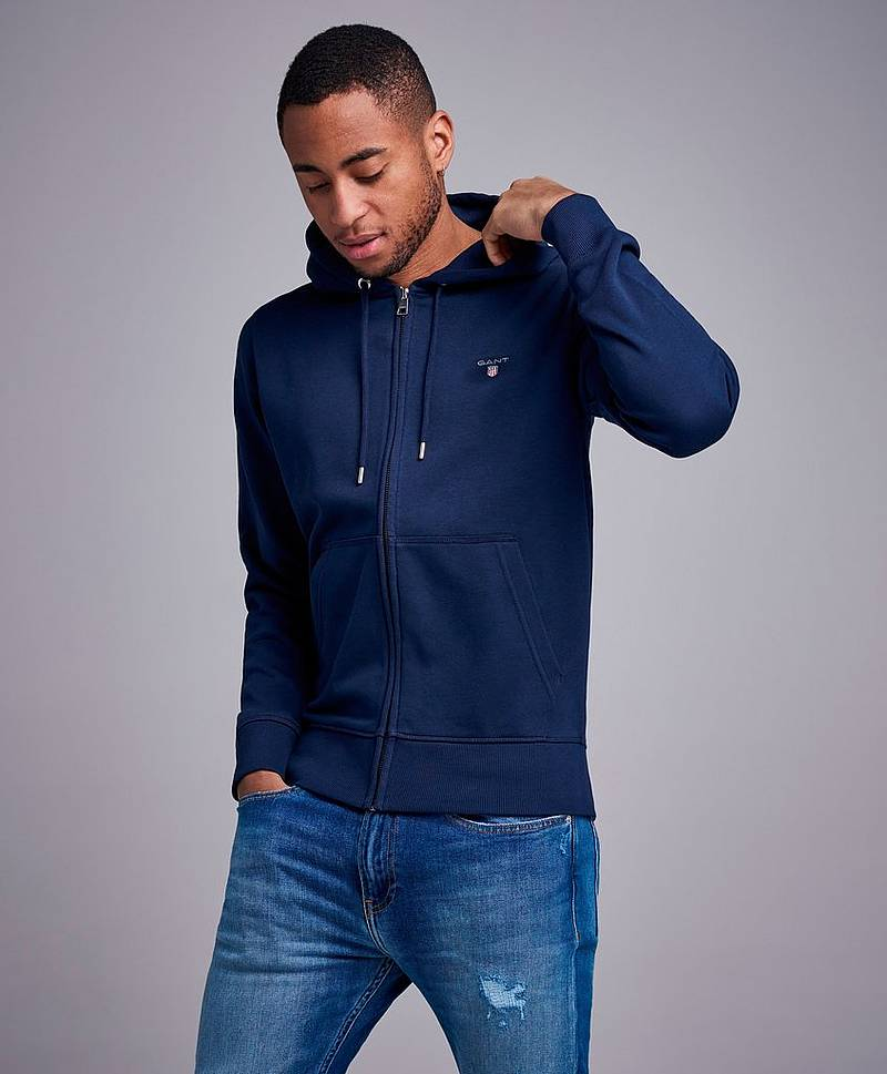The Original Full Zip Hoodie Evening Blue