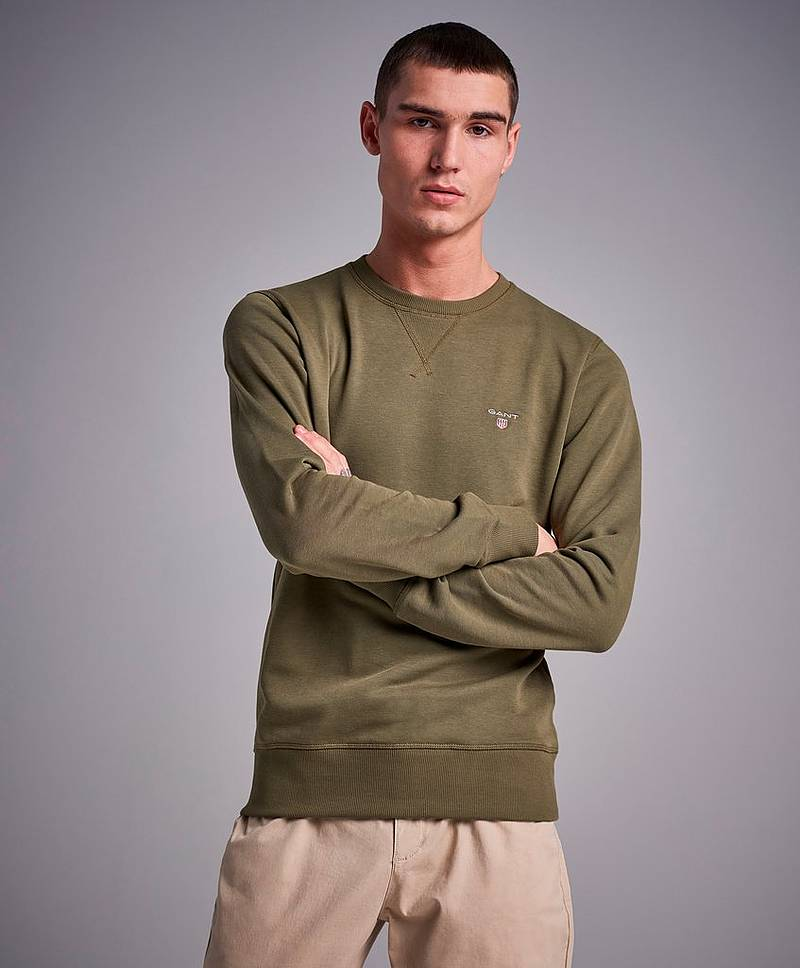 The Original C-Neck Sweat Field Green