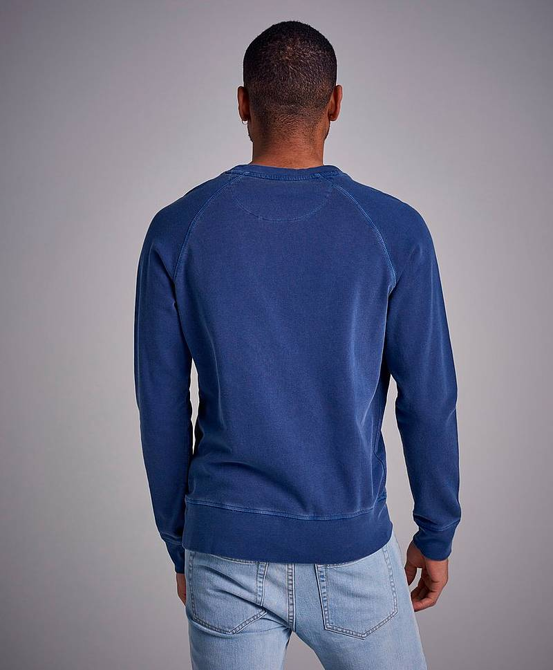Sweatshirt Sunbleached C-Neck Sweat Persian Blue