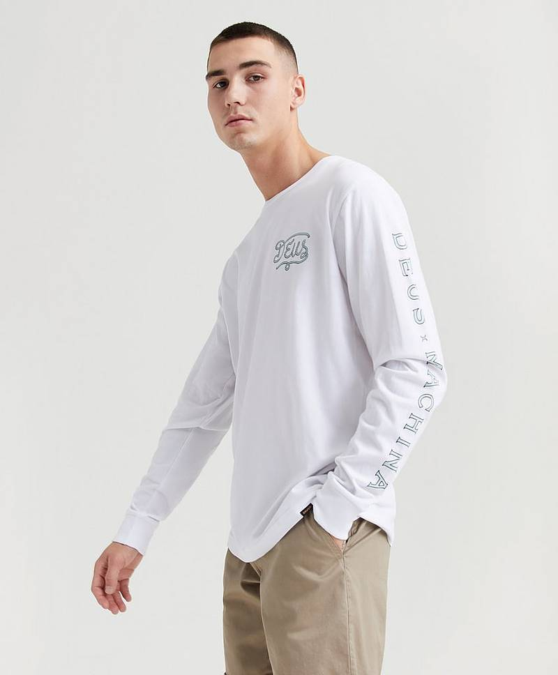 Tröja Roped In L/S Tee White