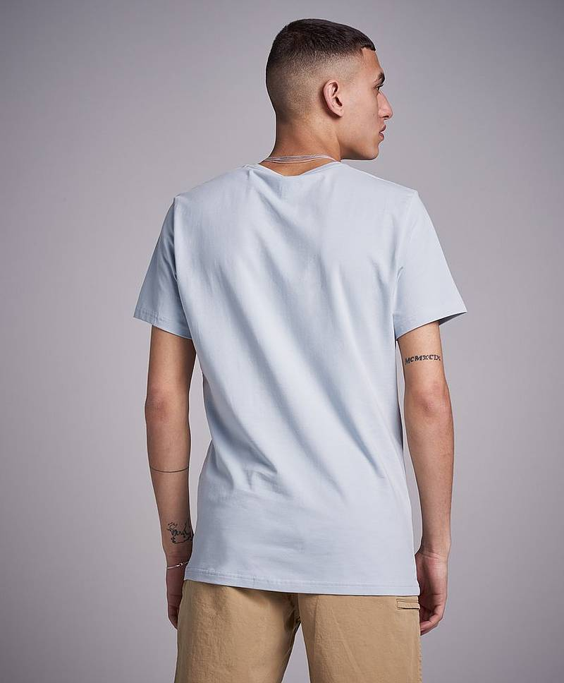 Crew Neck Tee Fog Blue