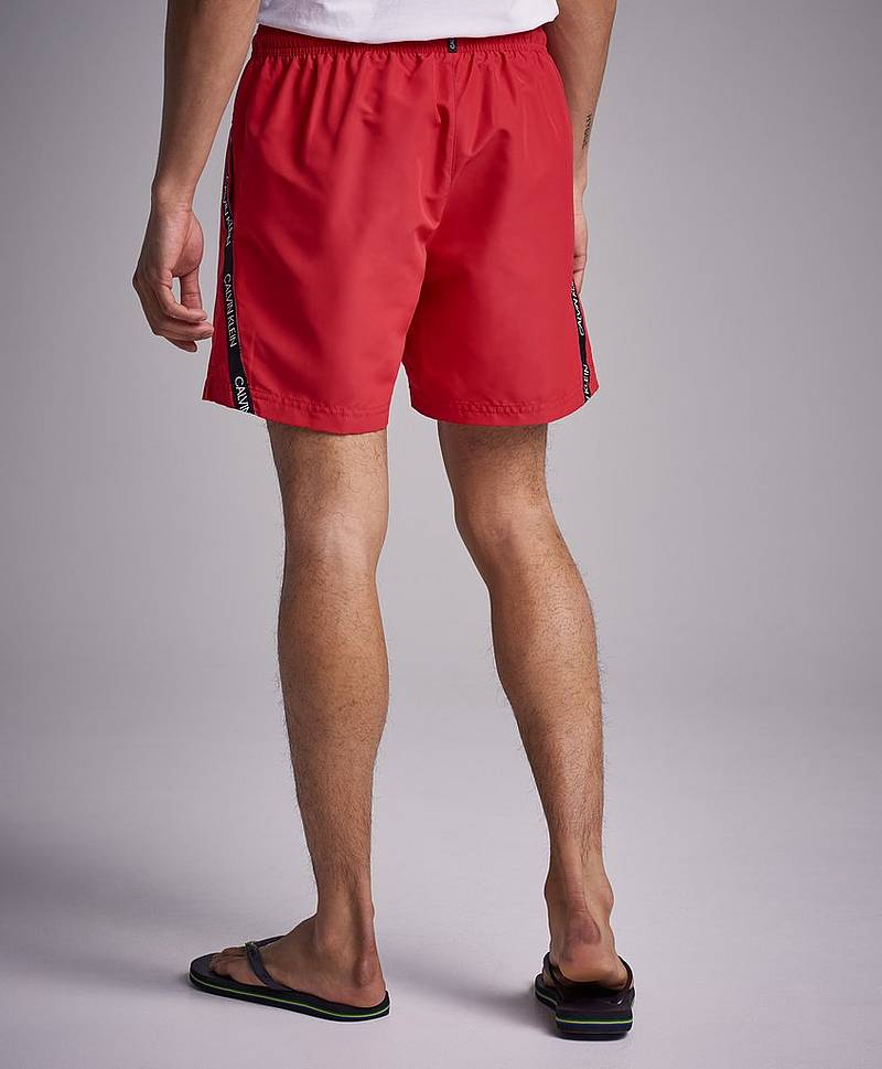 Uimashortsit CK Logo Medium Drawstring Red