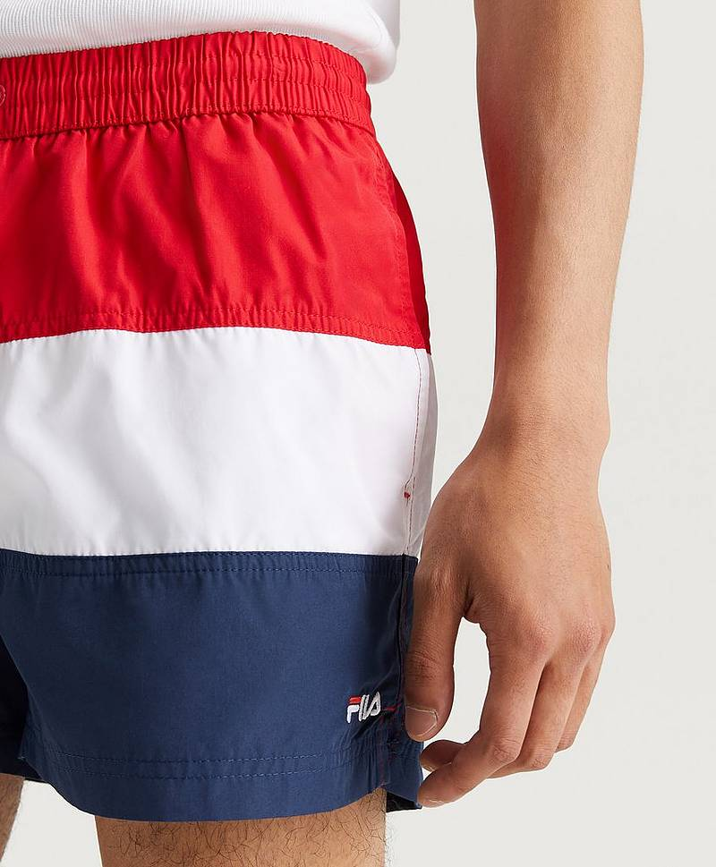 Badeshorts Saloso Black G06 Black Iris/White/Red