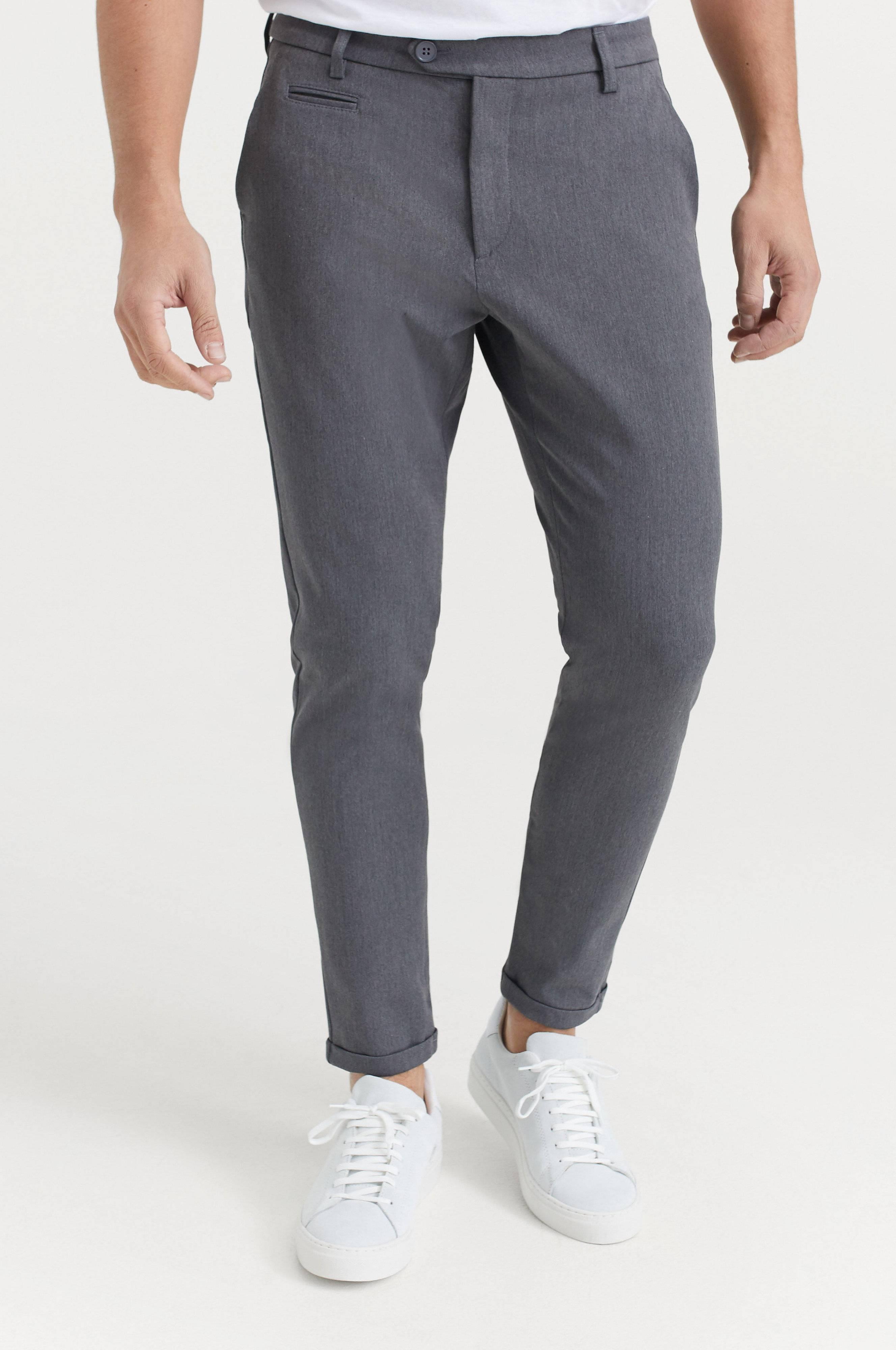 Les Deux Como Suit Pants Byxor Grå