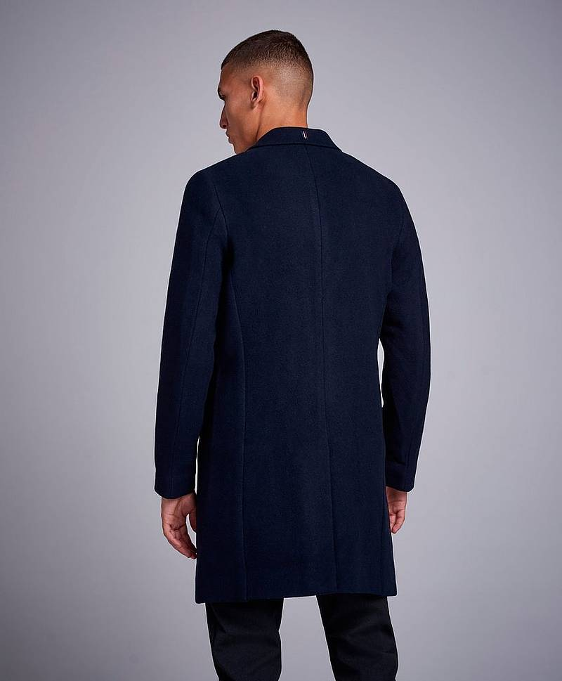 Frielle Tailored Coat Navy