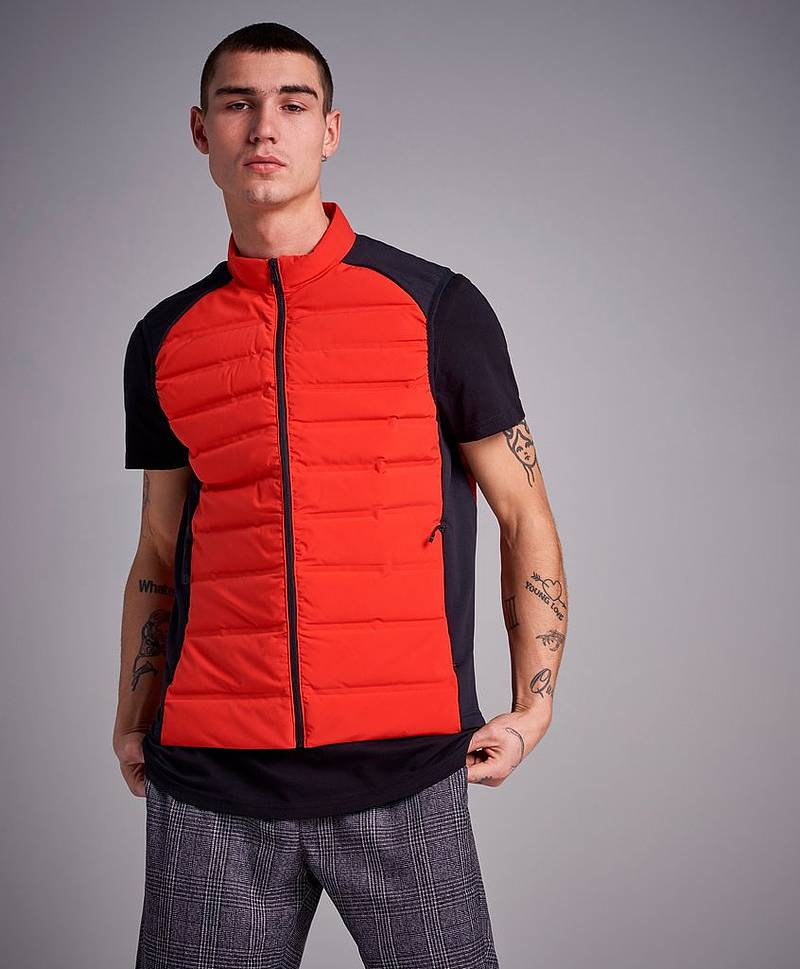 Race Down Vest Bright Red