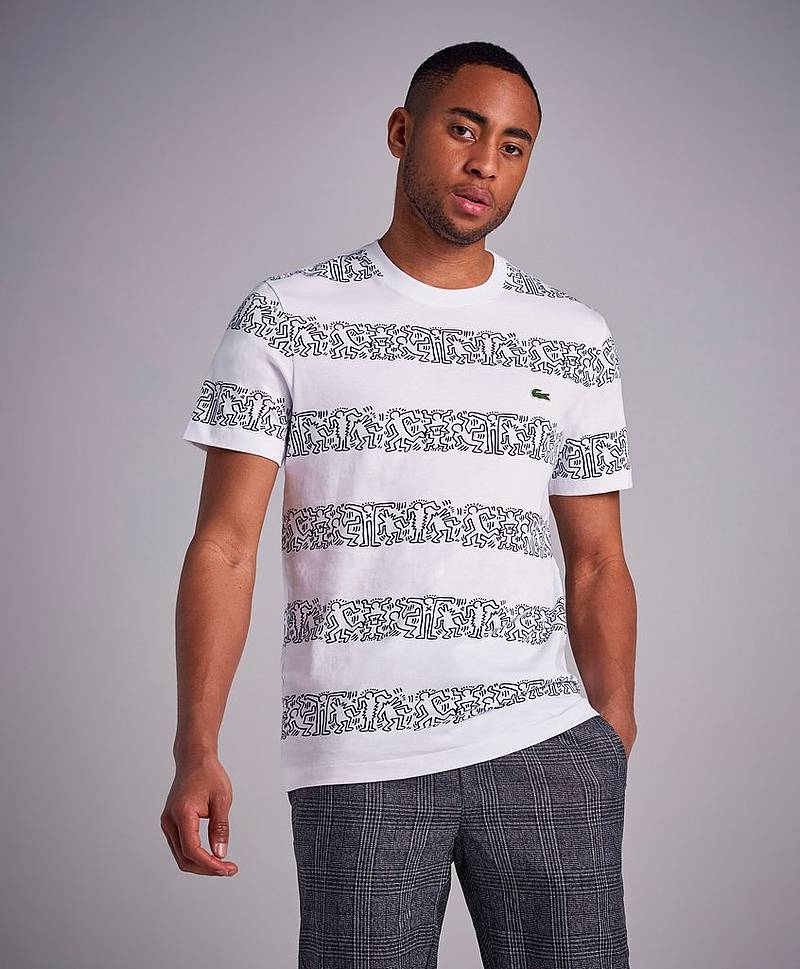 Keith Haring Theme Stripe Tee SBH White/Multi