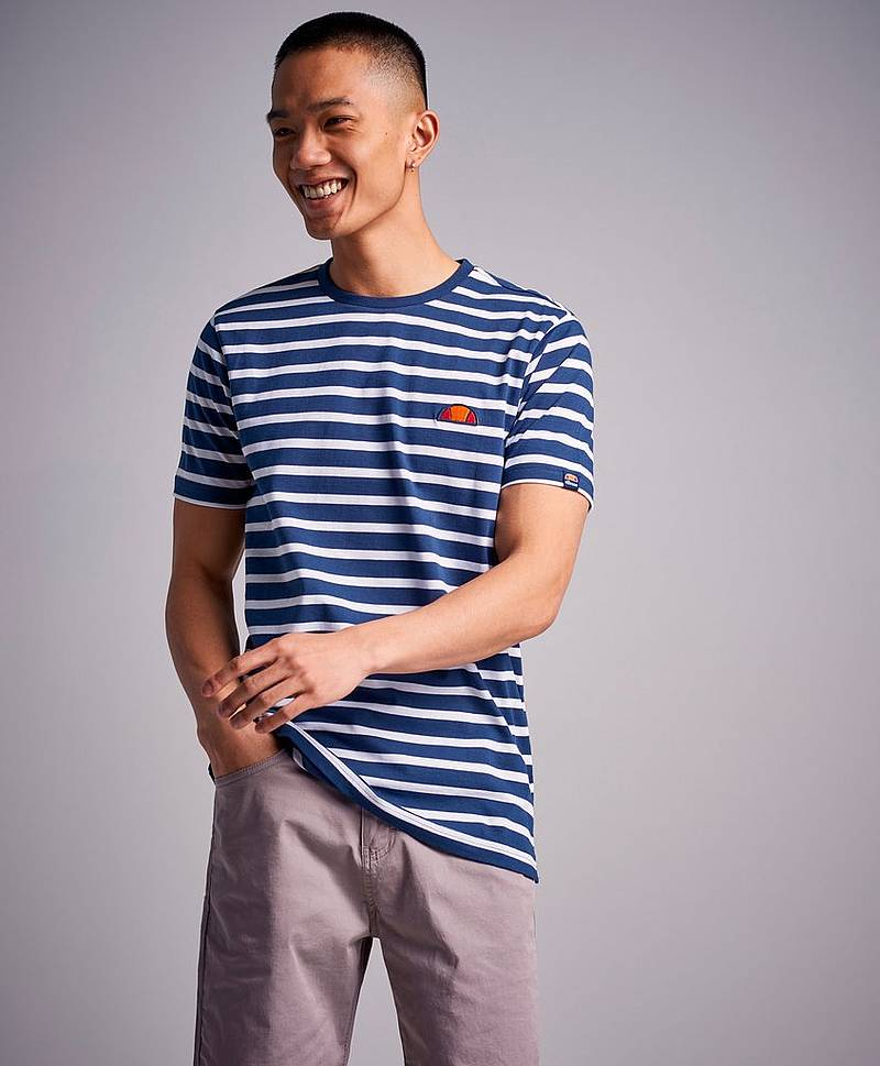 Sailo Stripe Tee Navy