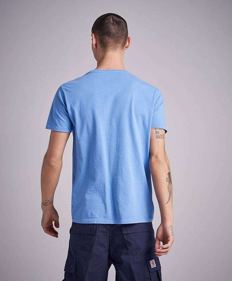 RBJ Logo Washed Tee Light Blue