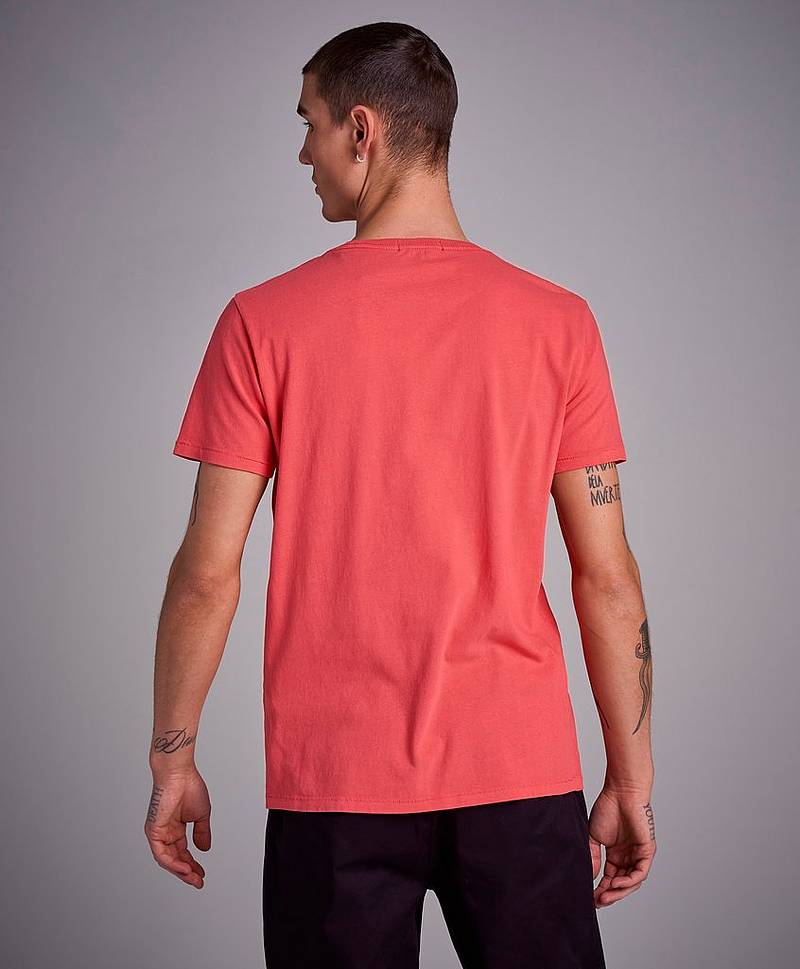 RBJ Logo Washed Tee Coral Red