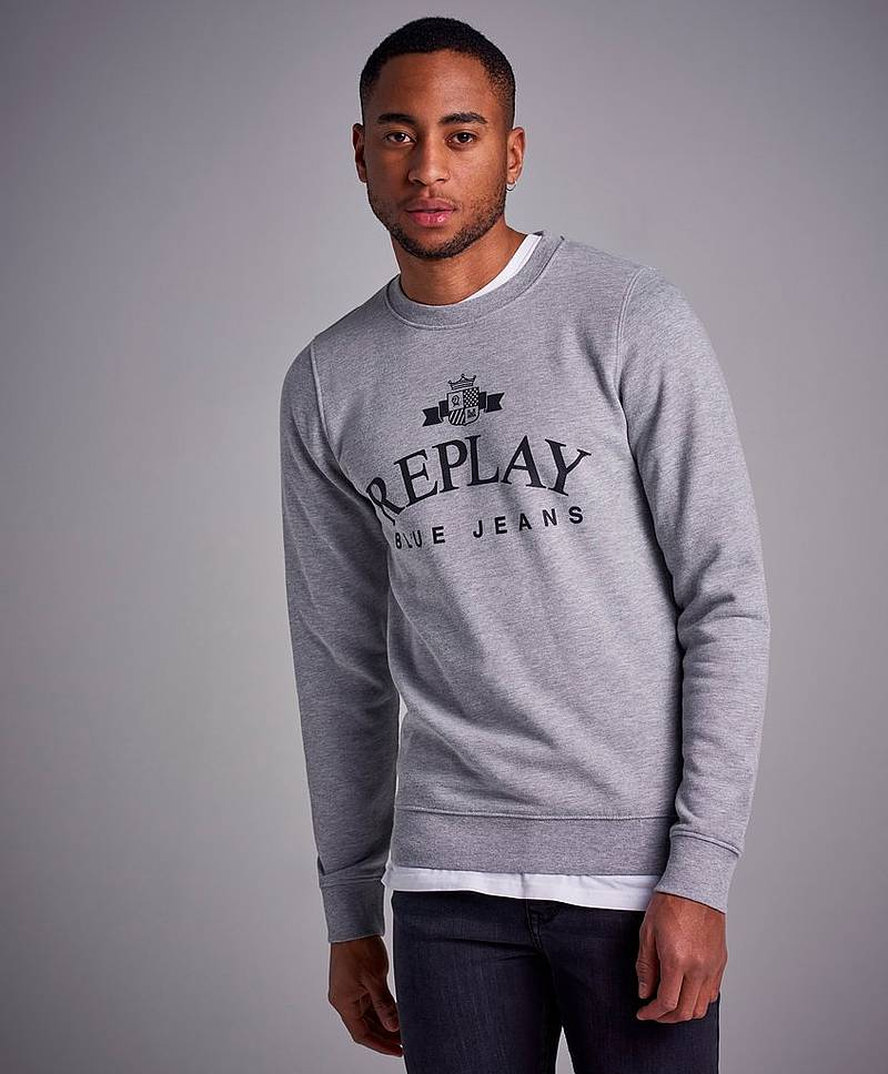 RBJ Original Logo Sweat Light Grey