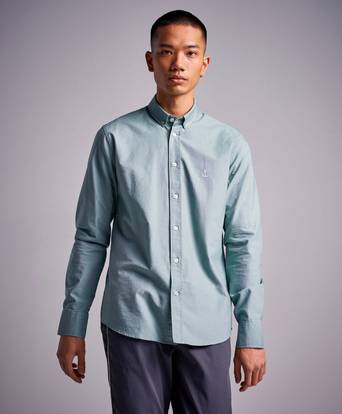 The Blue Uniform Herrman OX Shirt Grön