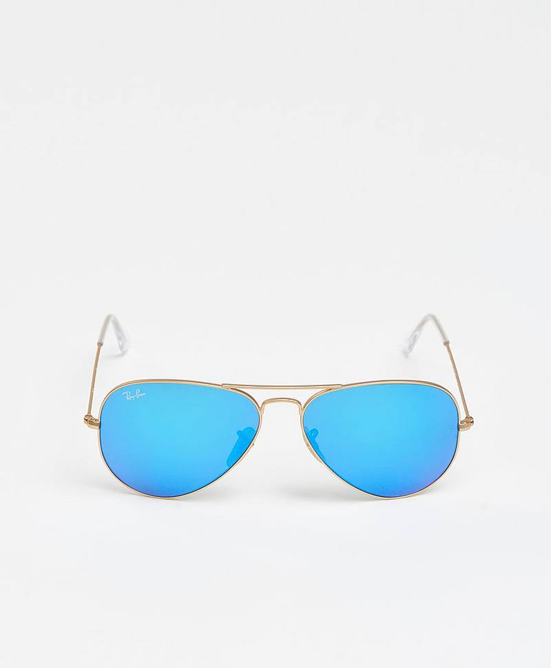 Solbriller Aviator Gold/Blue