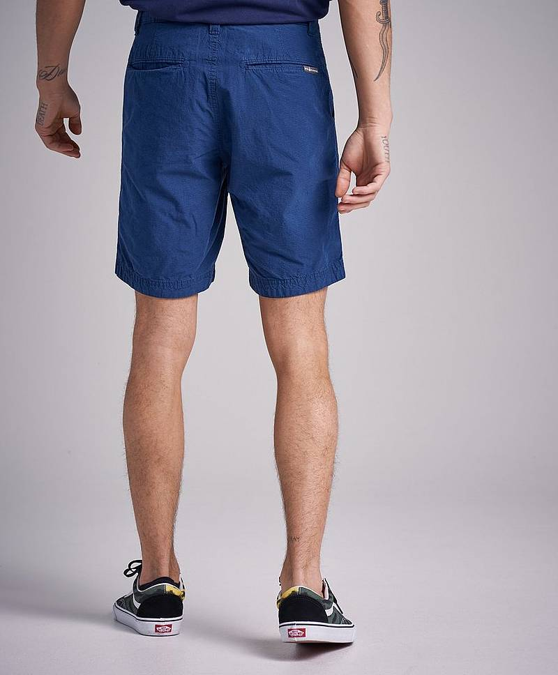 Grinder Check Chino Shorts Storm Blue