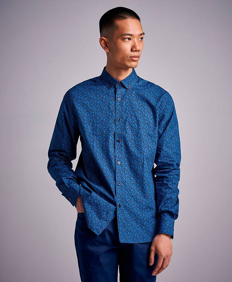 Skjorte Lalibert Shirt Blue Rose